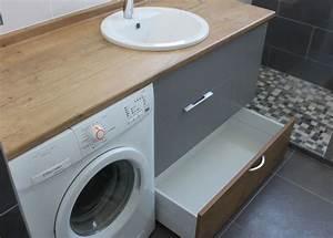 Meuble Pour Machine À Laver : agencement d 39 une salle de bain avec un lave linge ~ Dode.kayakingforconservation.com Idées de Décoration