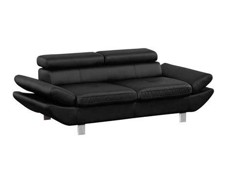 canapé 3 places noir canapé fixe 3 places loft coloris noir en pu vente de