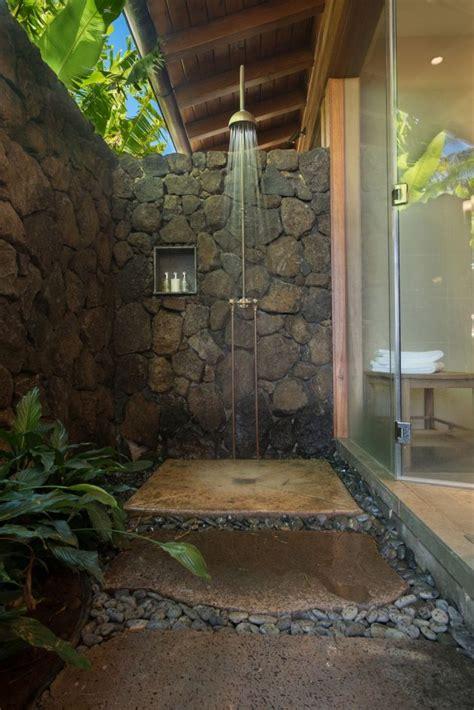 luxurious outdoor shower ideas   backyard
