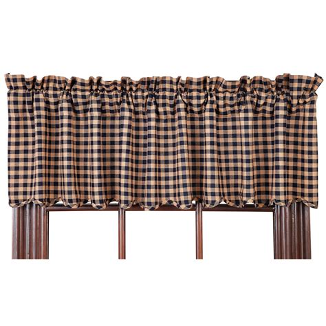 black and white checkered valance check scalloped country curtain valance navy or burgundy