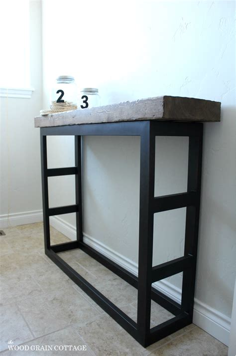 diy laundry room side table pottery barn style  wood