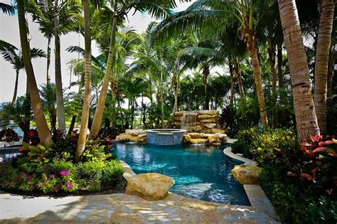 ideas  tropical pool landscaping