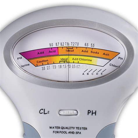 interline elektronischer pooltester f 252 r chlor und ph wert messung 5316 poolhammer