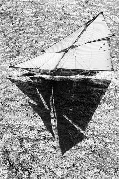 Sailboat Black And White by J Class Sailboats And Yachts Under Sails Racing