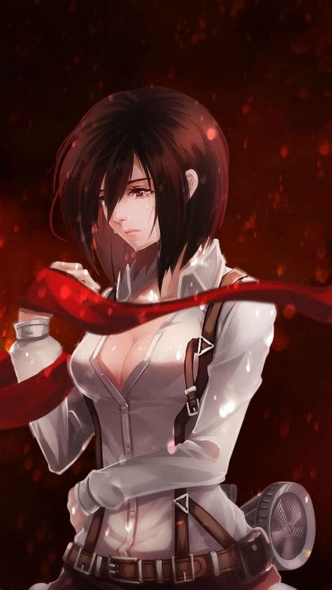 attack  titan anime mikasa wallpapers wallpaper cave