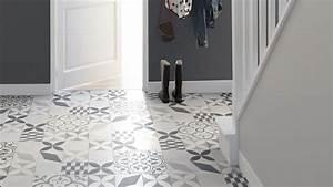 Dalle Vinyle Carreau De Ciment : sol vinyle texas new feliz aspect carreaux de ciment ~ Premium-room.com Idées de Décoration