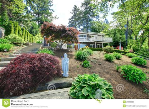 house on hill landscaping landscape with house on the hill during early summer stock photo image 29563330