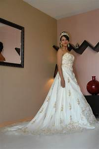 robe princesse blanche et or organisateur de mariage With robe or et blanche