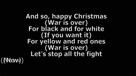 Happy Lennon Testo by Lennon Happy War Is Lyrics Hd