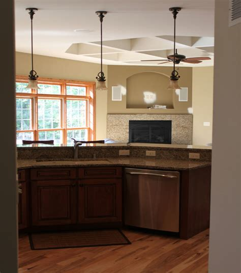 pendant lighting island traditional kitchen