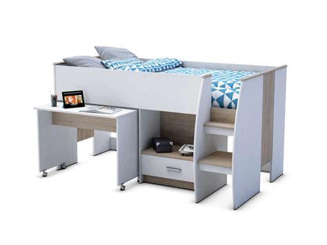 lit bureau conforama lit surélevé 90x190 cm enzo 2 vente de lit bébé
