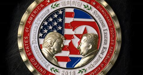 trump kim summit coin   collectible punch