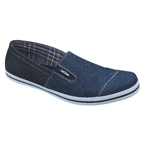 jual sepatu slip on casual pria denim biru catenzo ns 067 di lapak alluring me tokobarunih