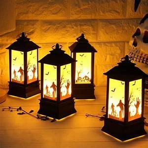 Behogar, Vintage, Halloween, Party, Candle, Light, Lantern, Light, Lamp, For, Home, Haunted, House, Ktv, Pub