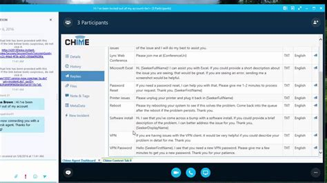 what is a instant chime for microsoft skype for business