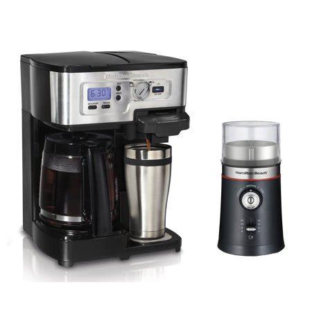 Barista set bodum coffee grinder water kettle 3 cup french press coffee maker. Hamilton Beach 2-Way FlexBrew Coffee Maker and Custom Grind Coffee Bean Grinder - Walmart.com
