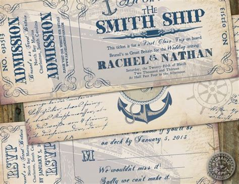 Boat Tickets by Cruise Ship Ticket Invitation And Rsvp Printable Ticket