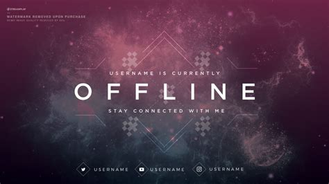 Twitch Offline Banner Template Size by Twitch Offline Banners Custom And Template Twitch