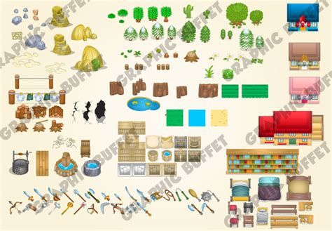 top  rpg pack zelda style game graphics  budding