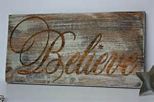 Rustic Christmas Sign Believe