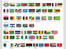 Africa flags Stencils library Design elements Africa
