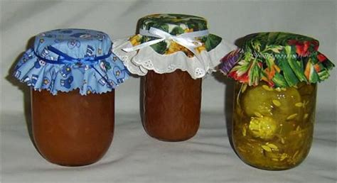 decorating jars with fabric free directions for sewing fabric canning jar covers