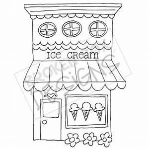 Boutique Buildings: Ice Cream Shop - Hand drawn clipart ...