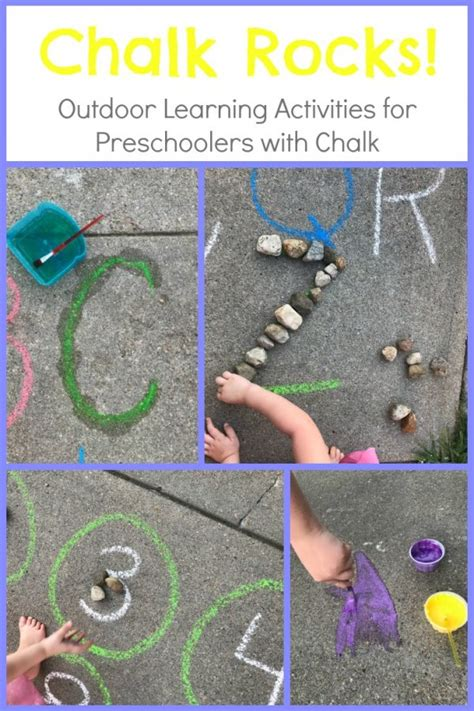 the preschool toolbox educational learning and play 196 | outdoor preschool chalk activities 600x900