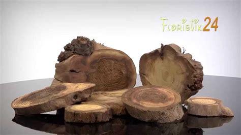 floristik deko holzscheiben natur youtube