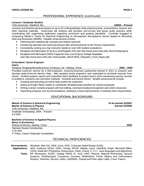 Professional Electricians Resume by Professional Electrical Engineer Resume Template Page 2