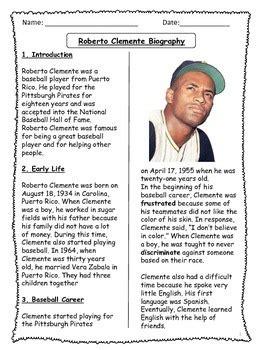 roberto clemente biographical article  activities