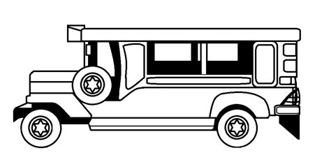 jeepney philippines art philippines jeepney black and white clipart clipart suggest
