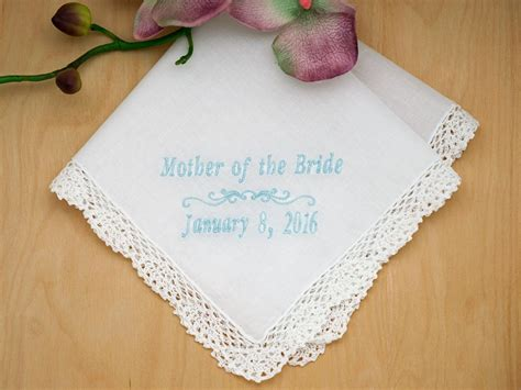 image gallery monogrammed handkerchiefs mother of the bride personalized handkerchief w date font i