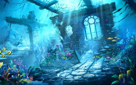 trine underwater scene wallpapers hd wallpapers id