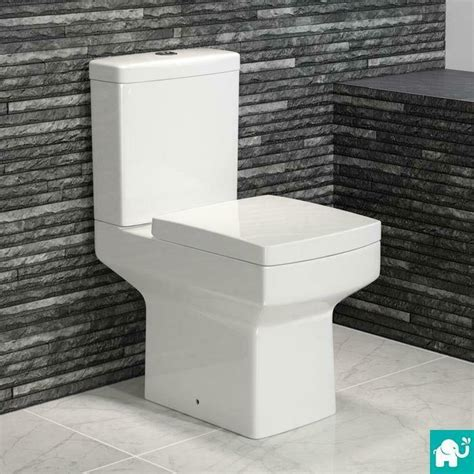 Modern Bathroom And Toilet by Modern White Ceramic Square Toilet Coupled Bathroom