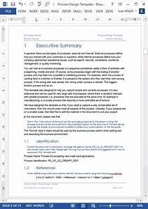 Business Process Design Templates  U2013 Ms Word  Excel   Visio