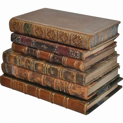 Books Leather Bound Antique Lot Six