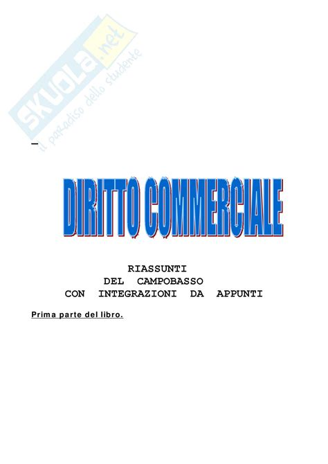 dispense diritto diritto commerciale cobasso riassunto esame dispense