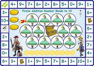 Pirate Number Bonds to 10 Games Let Me Learn
