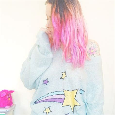Pretty Pink Hair And Shooting Star Jumper In 2019 Hair