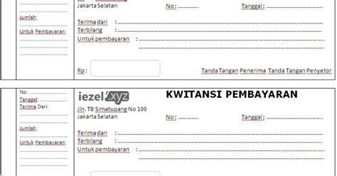 Contoh No Kwitansi by Template Kwitansi Word Docx Rajaning