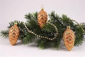 Weihnachtskugeln Aus Lauscha : 3 tannenzapfen 6cm eisorange christbaumkugeln ~ Orissabook.com Haus und Dekorationen
