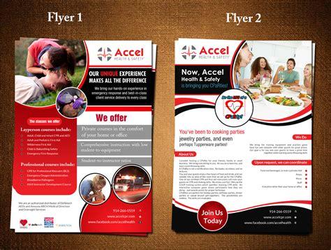 design a flyer upmarket serious flyer design for accel health
