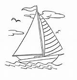 Boat Coloring Sailboat Printable Colouring Drawing Boats Yacht Sheets Sailing Simple Clip Coloring4free Outline Sketch Bestcoloringpagesforkids Canoe Colorings Dock Ferry sketch template