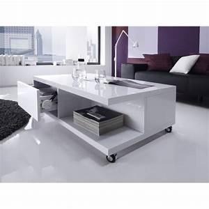 Table Basse Sur Roulette : table basse sur roulette maison design ~ Melissatoandfro.com Idées de Décoration