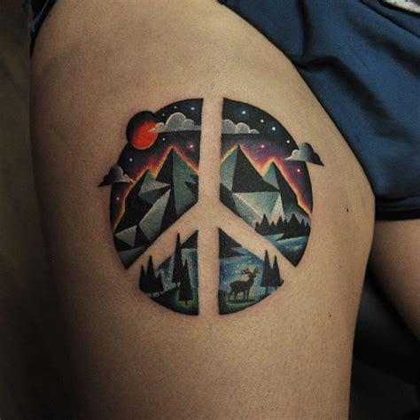 Peace Sign Tattoo Pairodicetattooscom