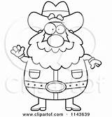Miner Prospector Cartoon Coloring Drawing Chubby Outlined Waving Clipart Thoman Cory Vector Drawings Getdrawings Mining Loving Arms Happy sketch template