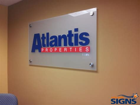 frosted glass plexiglass lobby signs great  property