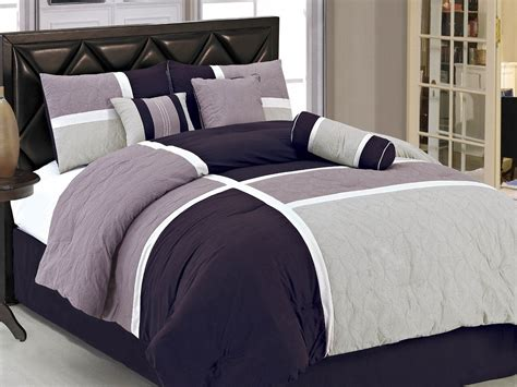 Grey Comforter Full Traditional Style Bedroom With Grey