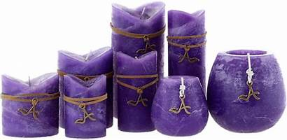 Candle Candles Purple Unscented